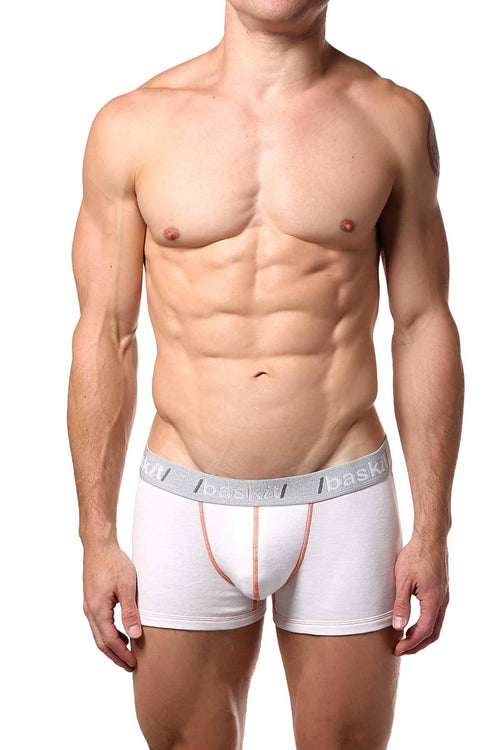 Baskit White Action Cool Low-Rise Trunk - CheapUndies.com