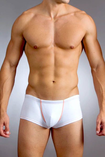 Baskit White Cotton/Mesh Action-Cool Sawed-Off Brief-Trunk - CheapUndies.com