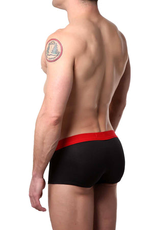 Berry London Black/Red Sporty Mesh Trunk