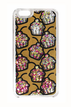 Betsey Johnson xox Trolls Glitter Cupcake iPhone Case