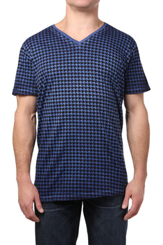 Black Hearts Brigade Navy Houndstooth Tee