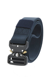 Blue Military Style Tactical Belt Nylon Belt with Heavy-Duty Quick-Release Metal Buckle
