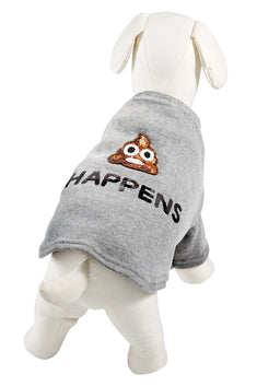 Bow & Drape Heather Grey Poop Happens Dog Sweatshirt