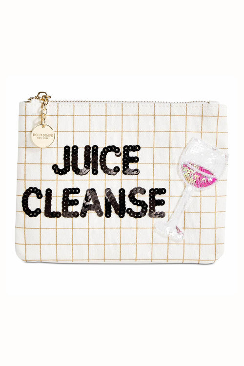 Bow & Drape Metallic-Grid Juice-Cleanse Pouch - CheapUndies.com