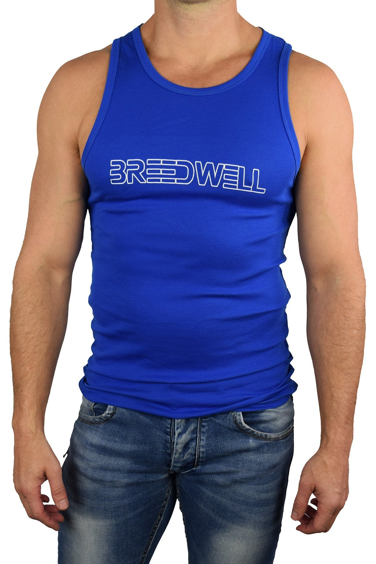Breedwell Blue Logo Tank Top