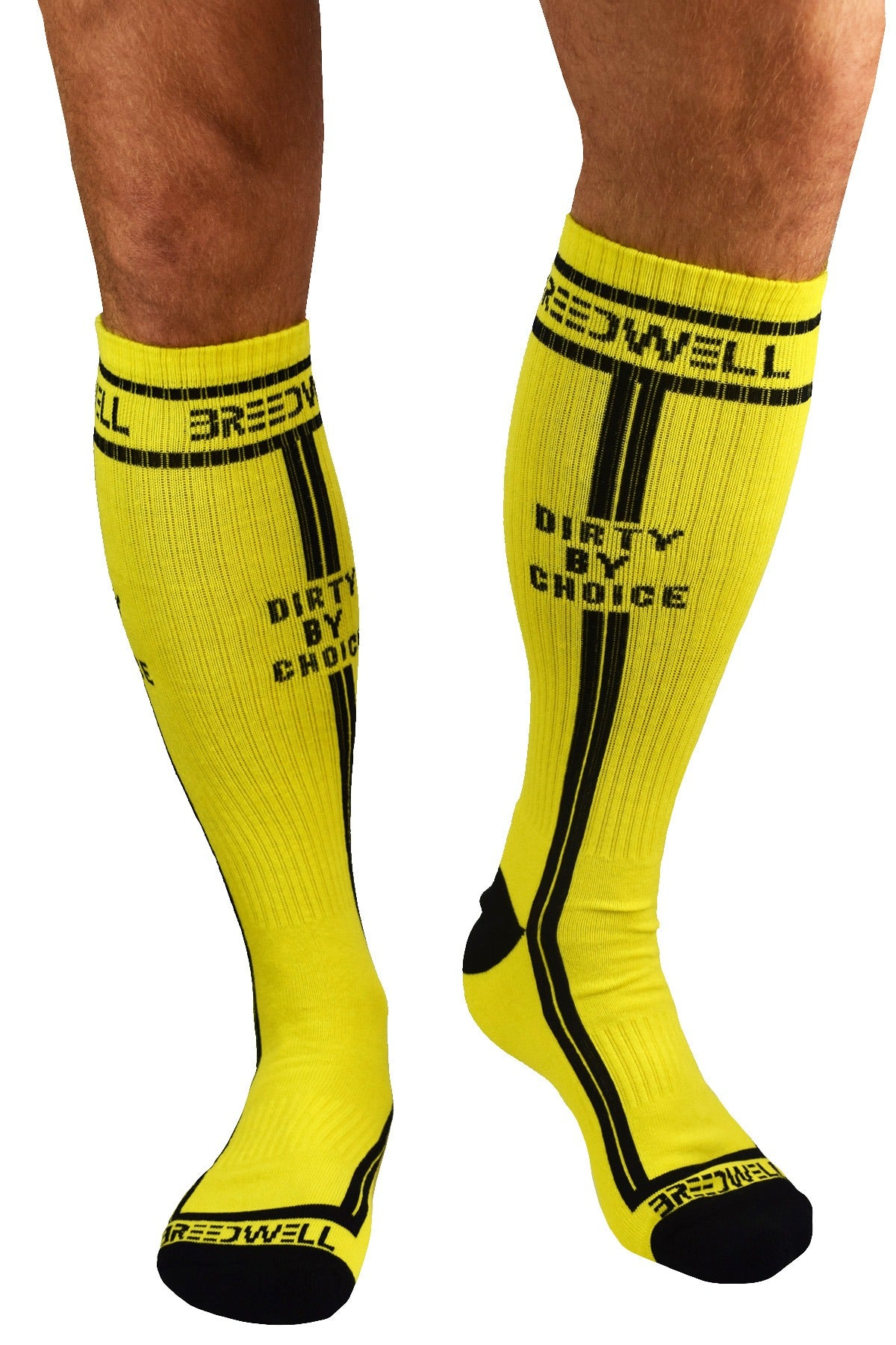 Breedwell Yellow 'Dirty by Choice' Socks