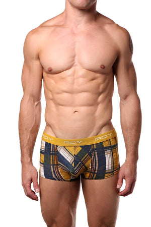 P.O.V. Yellow/Blue/Brown Plaid Trunk