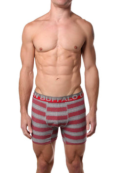 Buffalo by David Bitton Red/Grey Ombre Dot-Stripe Boxer Brief