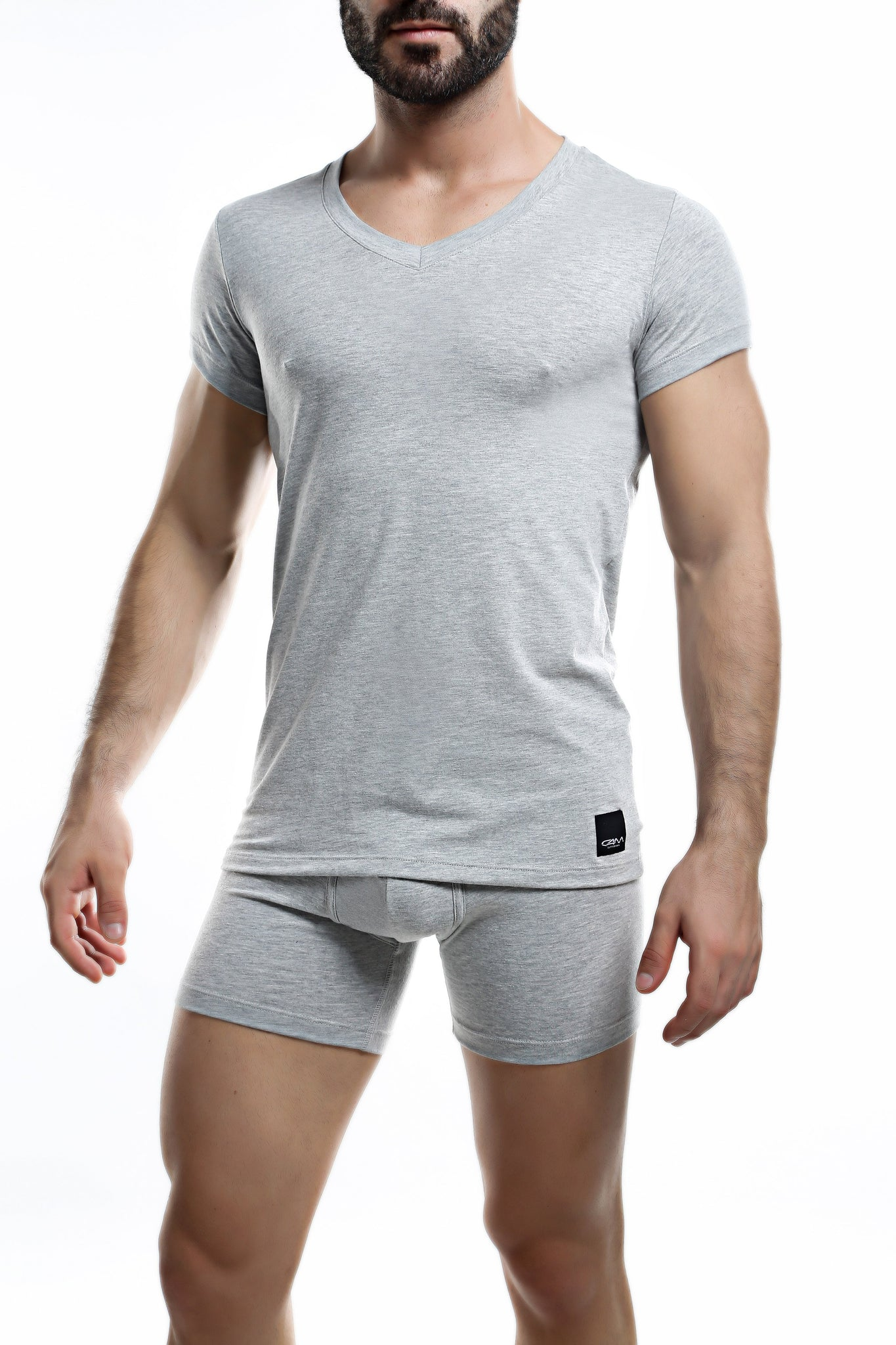 C4M Grey V Neck Shirt