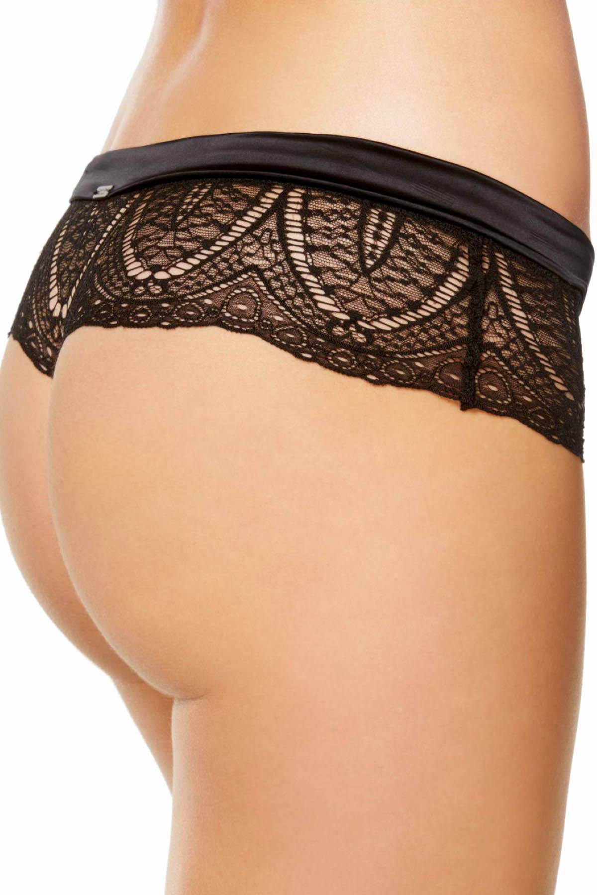 d4c1a71d4f1f CK Black by Calvin Klein Black Audacious Sheer-Lace Thong | CheapUndies