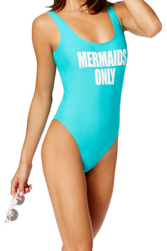California Waves Mint Mermaids Only Graphic Swimsuit