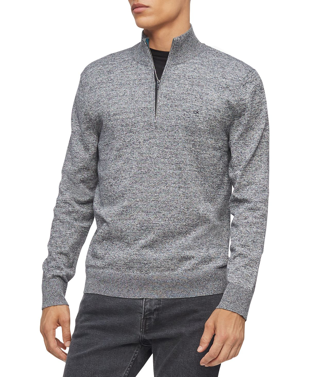 Calvin Klein 1/4-zip Sweater Gray Heather