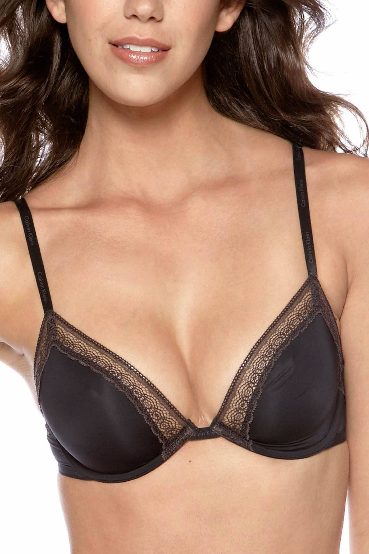 c12fefe099 Calvin Klein Black Perfectly-Fit Sexy Signature Unlined Underwire Bra
