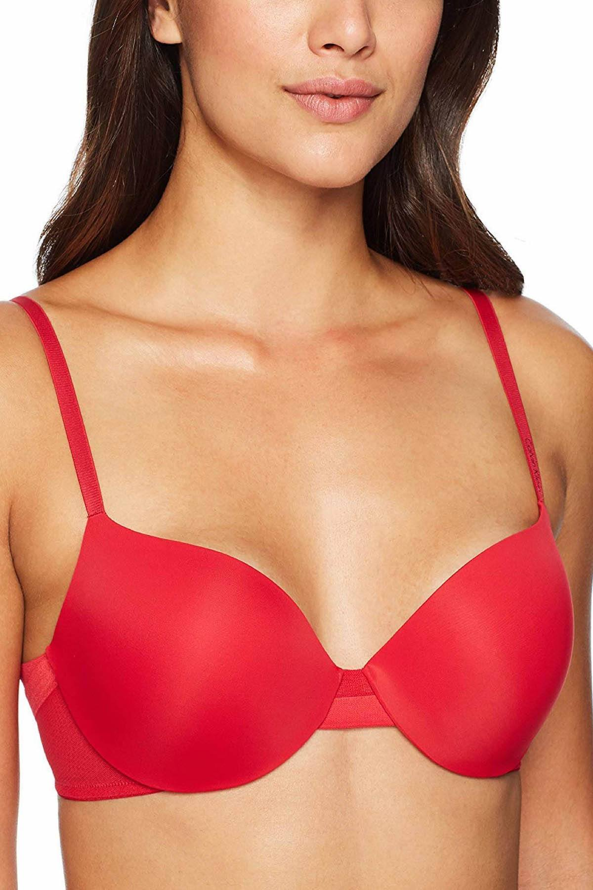 Calvin Klein Empower-Red Sculpted Lightly-Lined Demi Bra