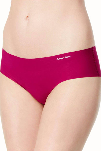 Calvin Klein Enthrall-Magenta Invisible Hipster Panty - CheapUndies.com