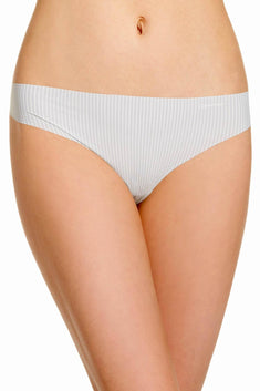 Calvin Klein Grey-Gaze Parallel-Lines Invisibles Thong