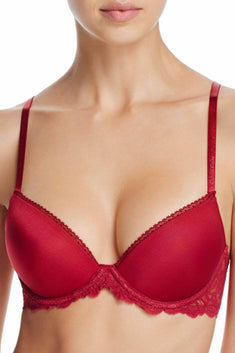 Calvin Klein Intoxicate-Red Seductive Comfort Lace Demi Lift Convertible Bra