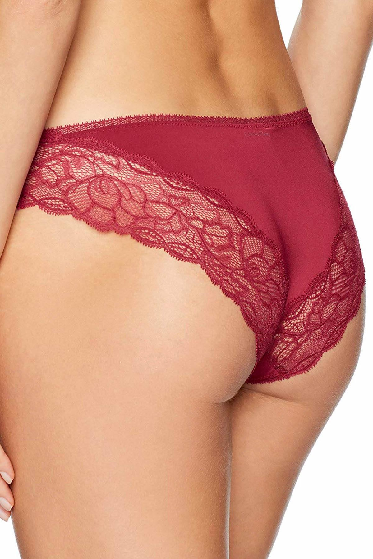 Calvin Klein Intoxicate-Red Seductive Comfort Lace-Waist Brief
