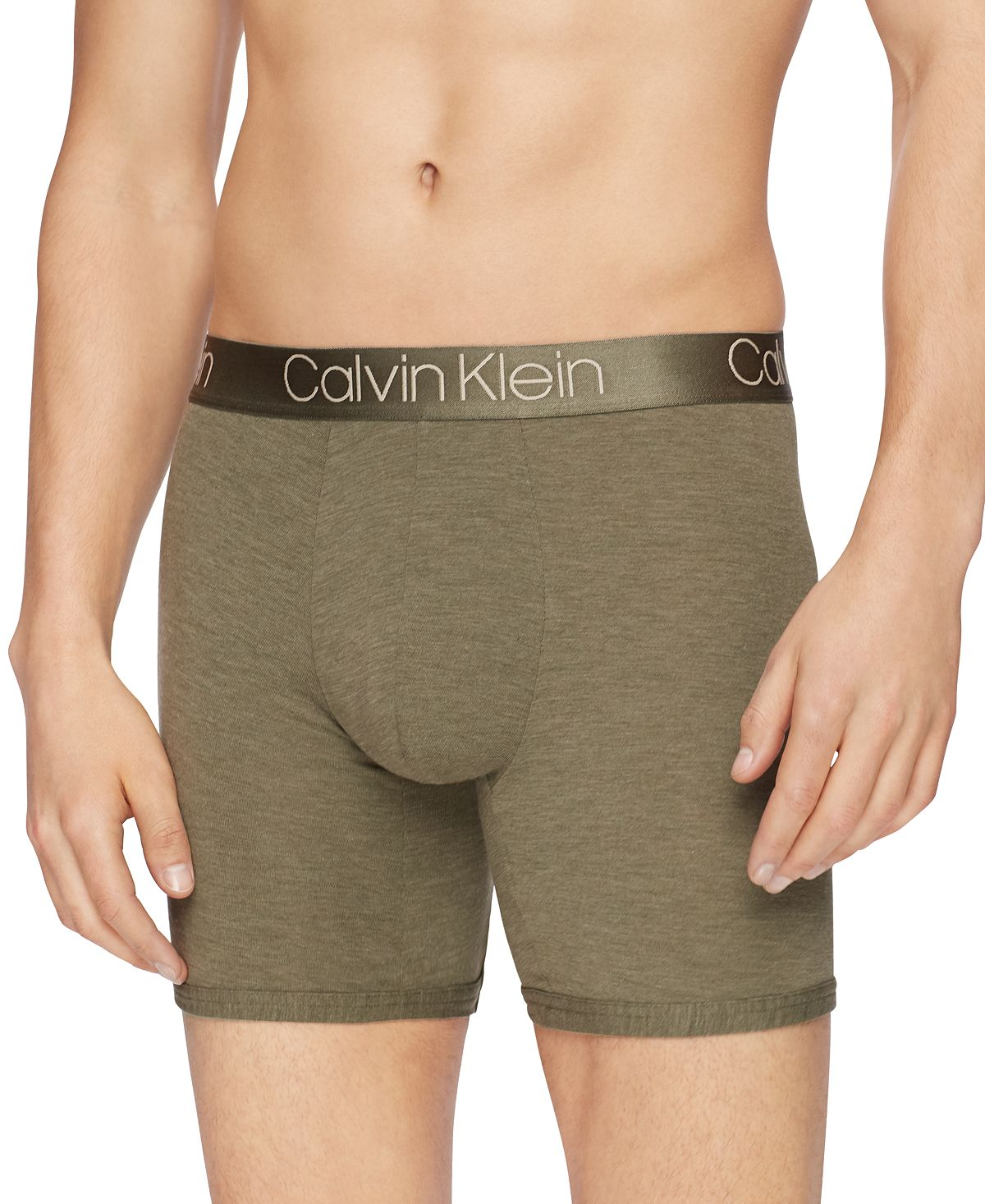 Calvin Klein Men's Ultra-soft Modal Boxer Briefs Huntsman Heather