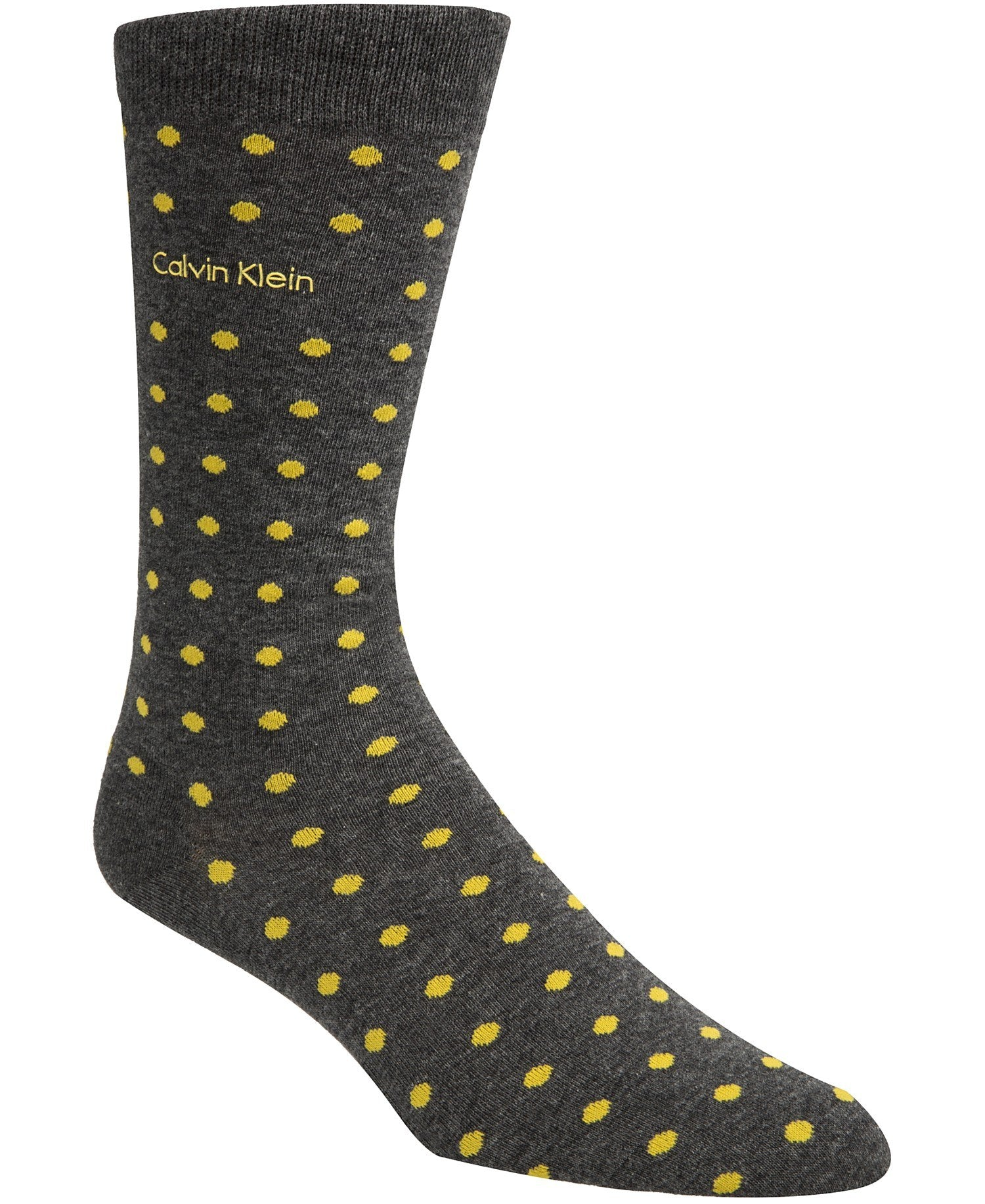 Calvin Klein Mens Polka Dot Dress Socks Yellow