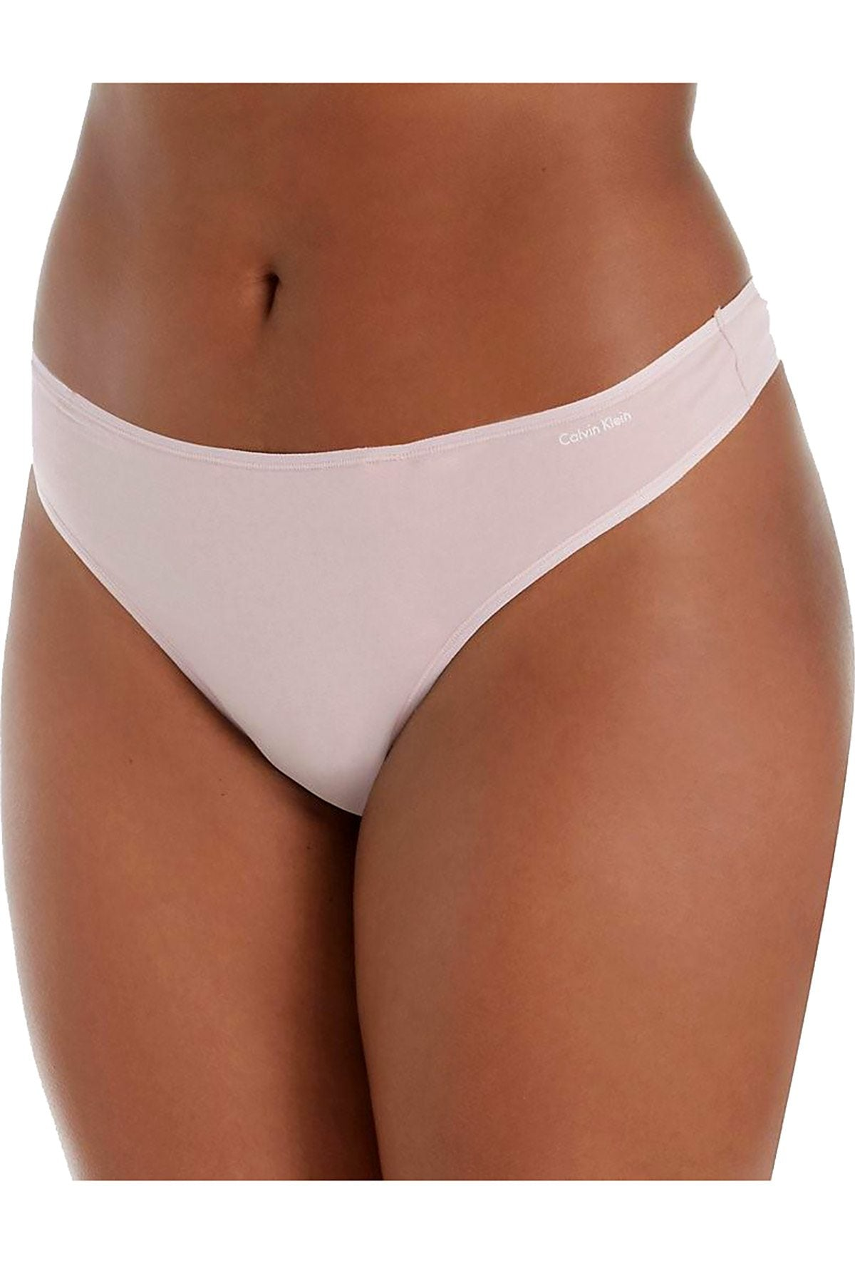 Calvin Klein PLUS Connected-Pink Cotton Form Thong