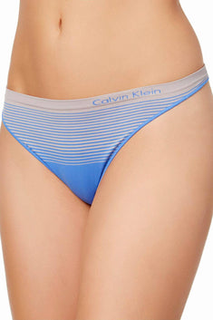 Calvin Klein Stella-Blue Seamless Illusions Thong