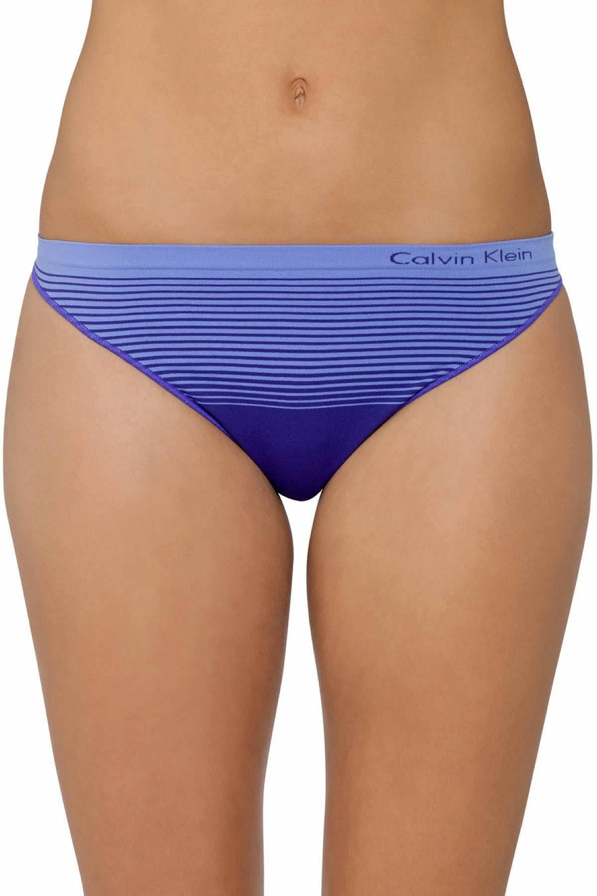Calvin Klein Stimulate/Tranquil-Blue Seamless Illusions Thong