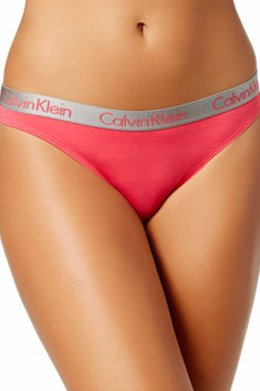Calvin Klein Sultry-Coral Radiant Cotton Thong