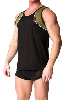 CellBlock 13 Army-Green United Puppy Mesh Tank