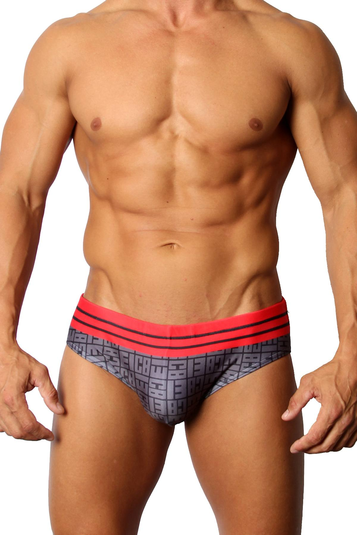 CellBlock 13 Icon Swim Brief in Red