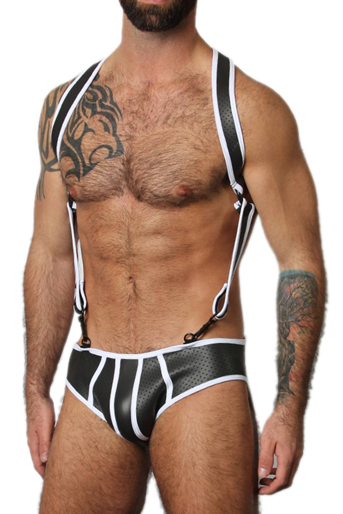 CellBlock 13 White Gunner Neoprene Harness