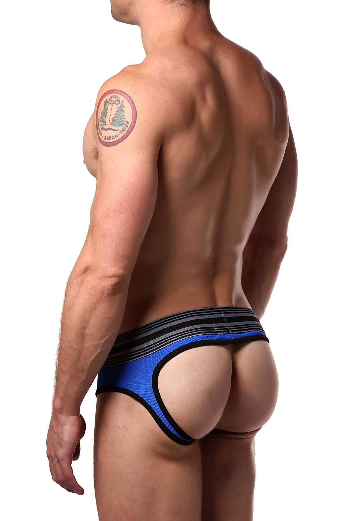 Cellblock 13 White/Grey/Blue Cellmate Jock-Brief
