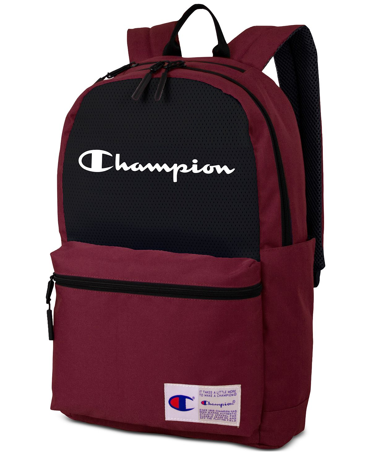 Champion Colorblocked Backpack Burgundy