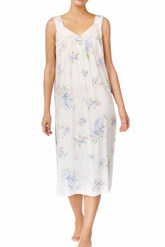 Charter Club Fall-Floral Printed Cotton-Knit Nightgown