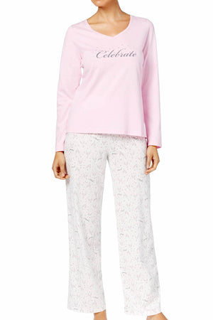 Charter Club Intimates Champagne-Bubbly Printed Pajama Set