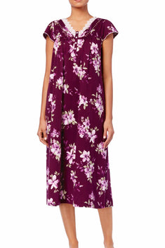 Charter Club Intimates Floral-Vineyard Long Nightgown