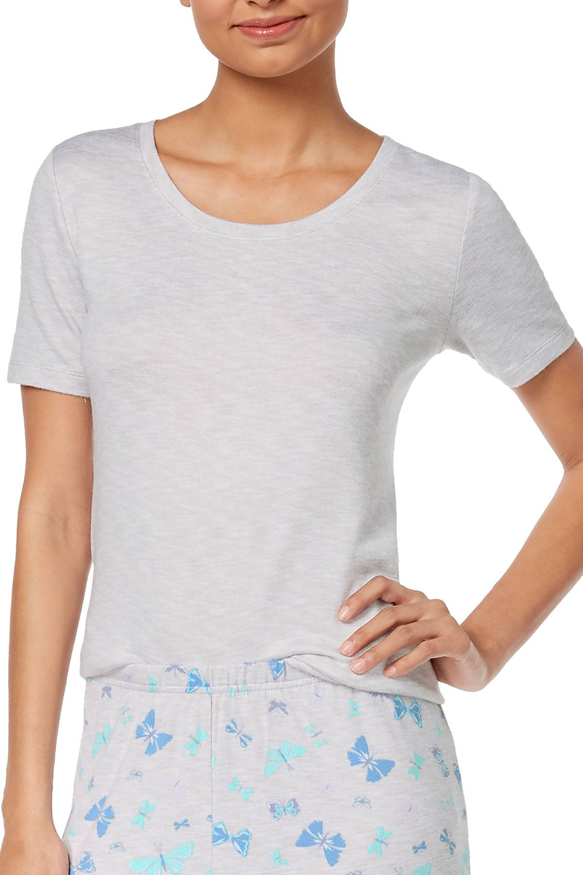 Charter Club Intimates Grey-Day Super-Soft Lounge Top