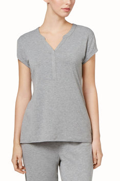 Charter Club Intimates Heather-Grey RapiDry Lounge Tee