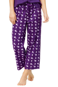 Charter Club Intimates Purple Elephant/Paisley Cropped Pajama Pant