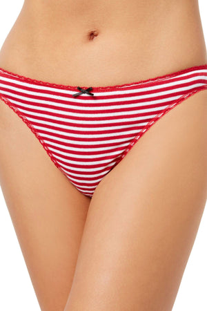 Charter Club Intimates Red-Stripe Pretty Cotton Thong