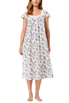 Charter Club Intimates Rose-Toile Printed Cotton Floral Border Nightgown
