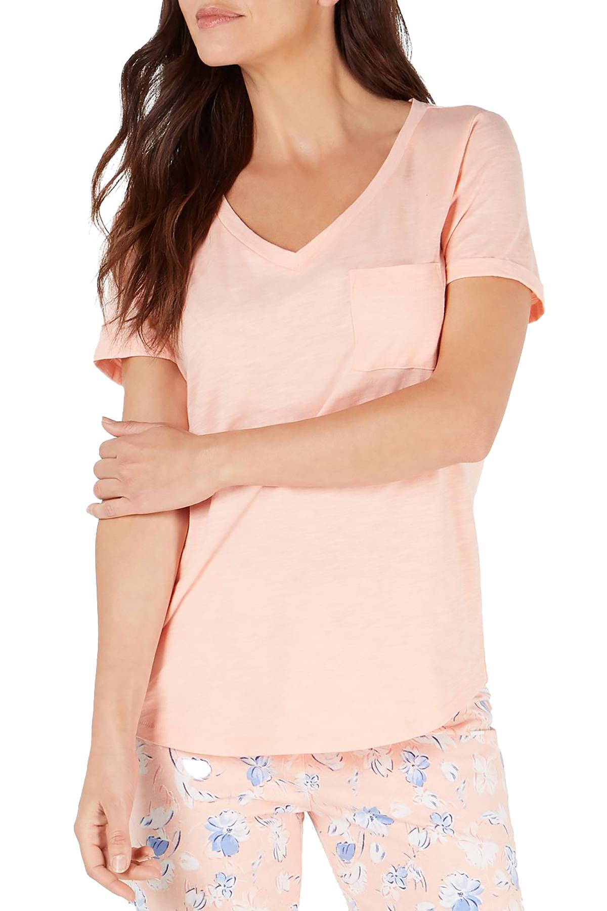 Charter Club Knit Lounge Tee in Barely Pink