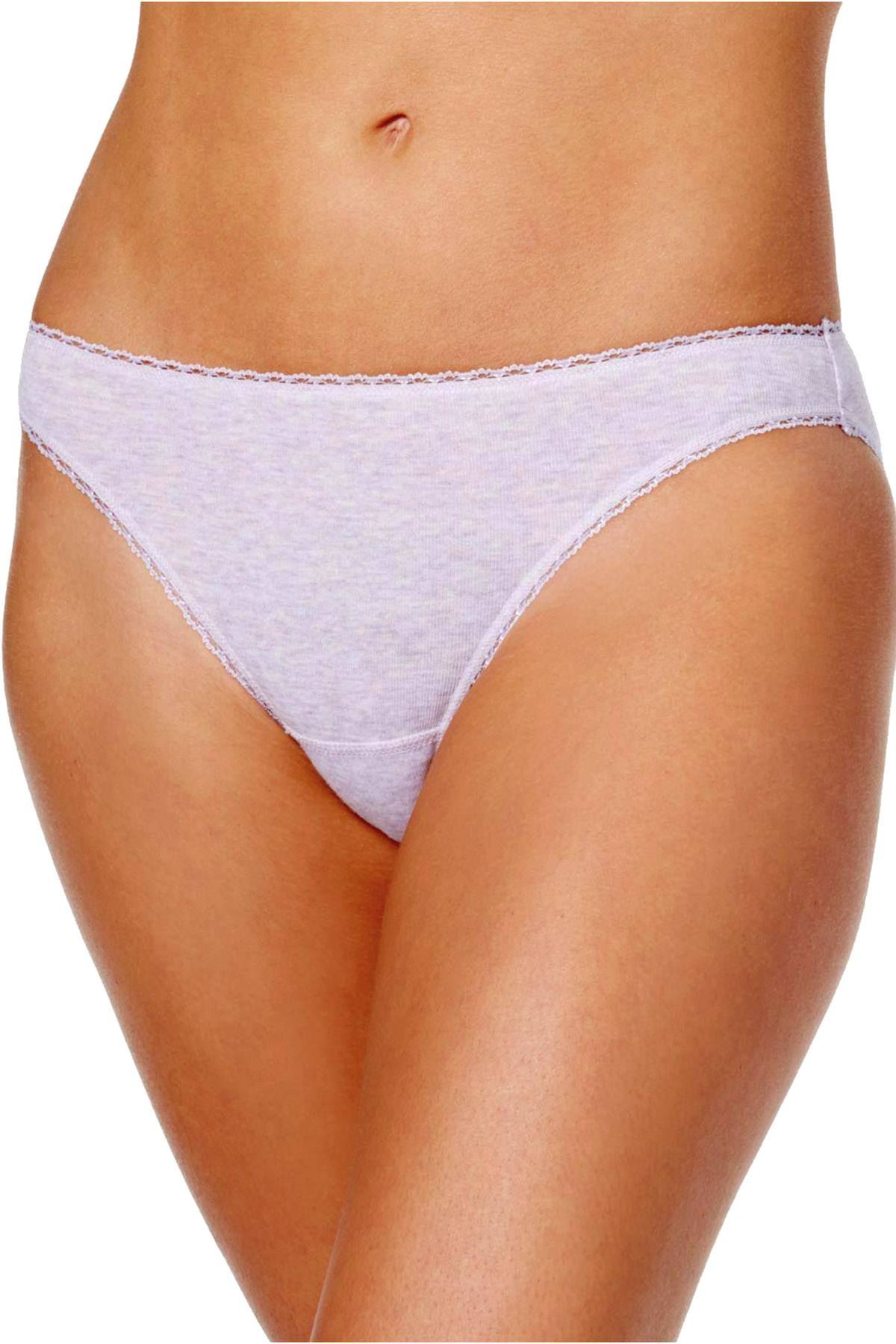 Charter Club Pretty Cotton Bikini Brief in Lilac Heather