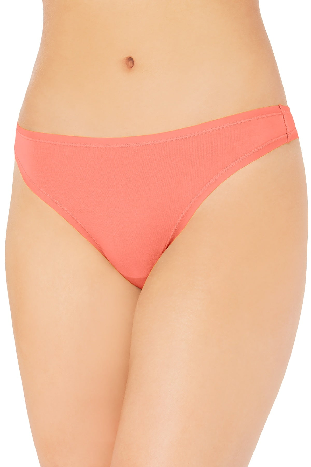 Charter Club Suprima Cotton Thong in Coral Lining