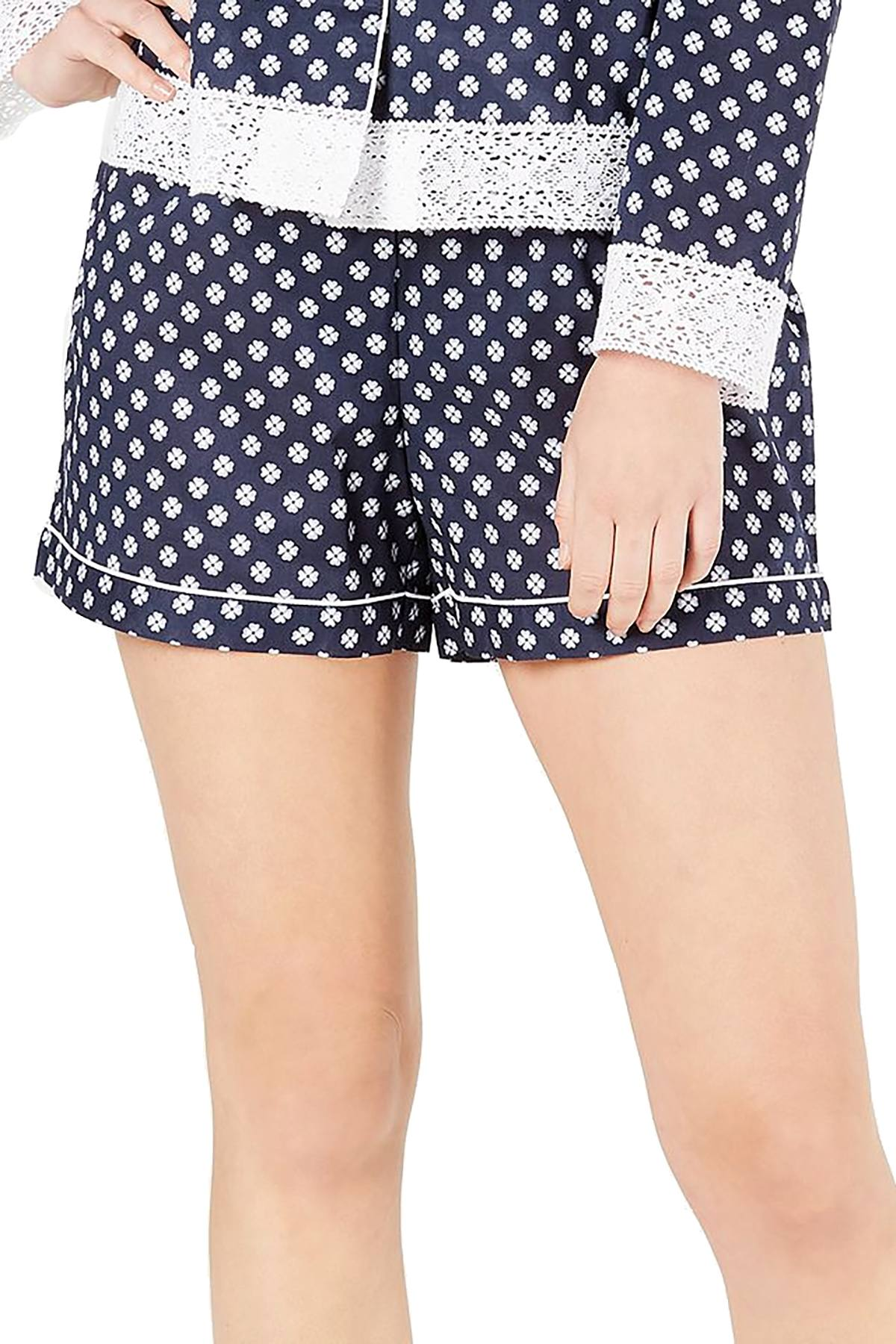 Charter Club Woven Cotton Pajama Short in Mini Floral Geo