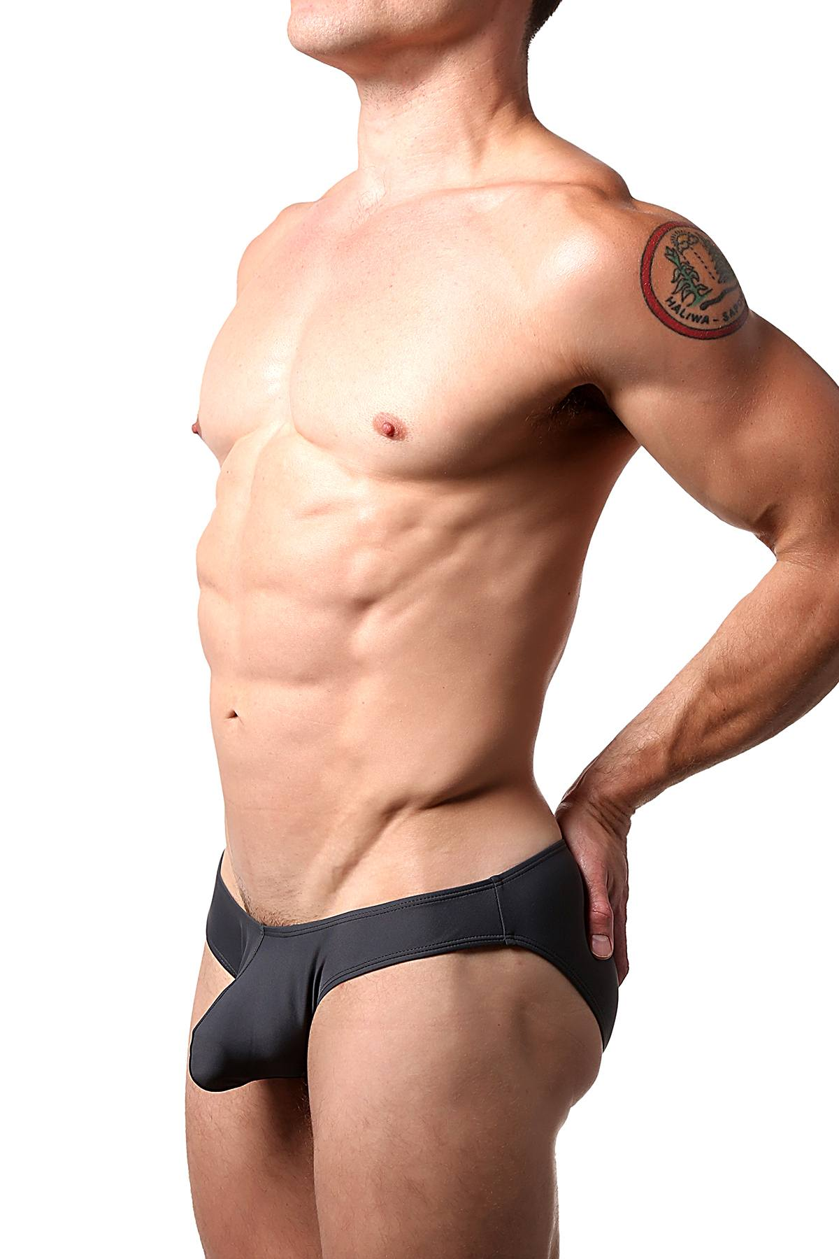 CheapUndies Charcoal Bikini Brief