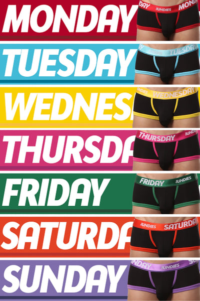 CheapUndies Days of the Week Trunk 7-Pack - CheapUndies.com