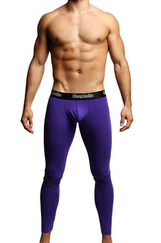 CheapUndies Purple Contour Pouch Long Underwear