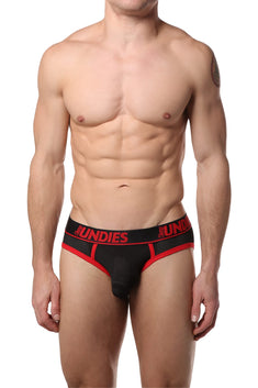 CheapUndies Red Sport Exposed Mesh Brief