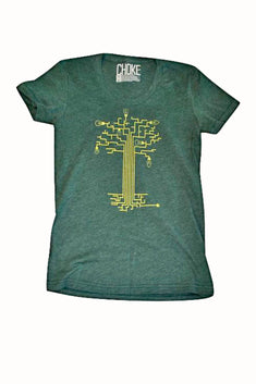 Choke Green Circuit-Tree Tee